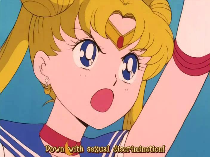 Cred c-am mai postat acest citat feminist din Sailor Moon, dar nu se demodează niciodată.