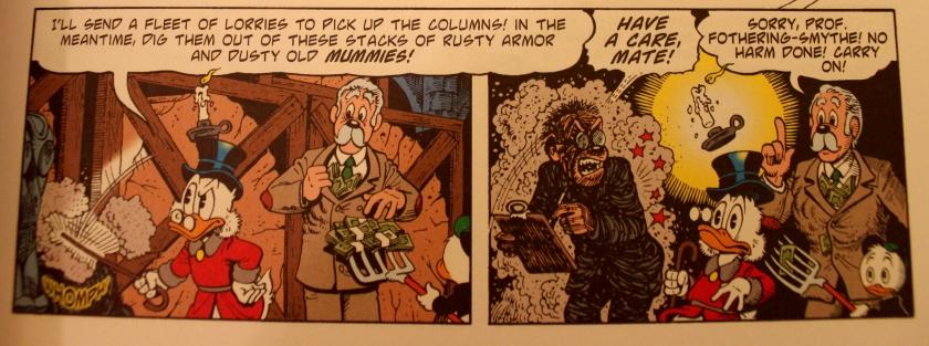 Intelectual în avangarda culturii mondiale, dintr-o carte de benzi desenate cu Scrooge McDuck