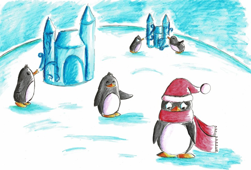 Niște pinguini din carte